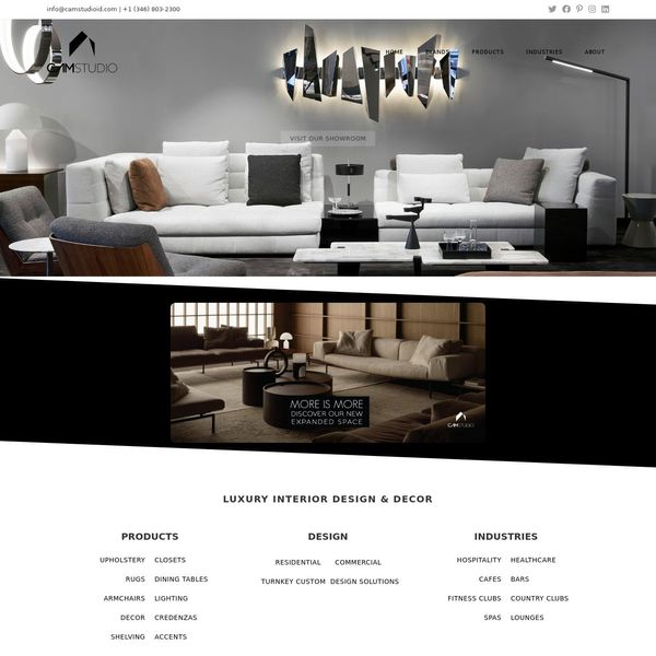 Cam Studio Houston home page image.